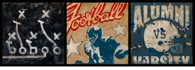 football star trio wall art