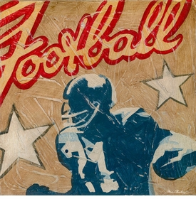 football star wall art