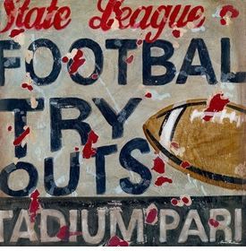 football tryouts wall art