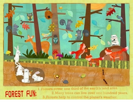forest fun - wall art