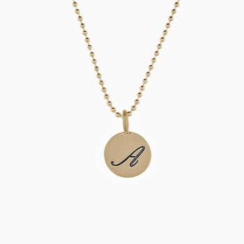 formal initial charm necklace