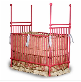 four poster crib with small cherubs 41208