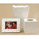 frame, waste basket &  tissue box set - lotty dotty