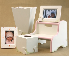 frame, waste basket, tissue box & step stool   - hippity hop