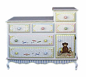 french changing table (antique toys)