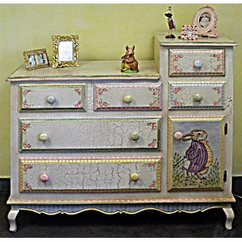french changing table (enchanted forest) by art forkids