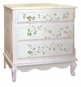french chest (floral vines/2 tone)