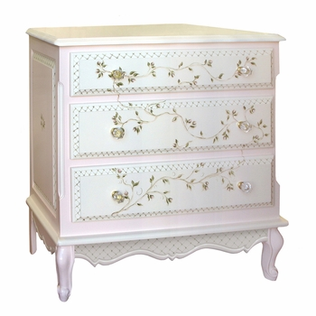 french chest - floral vines