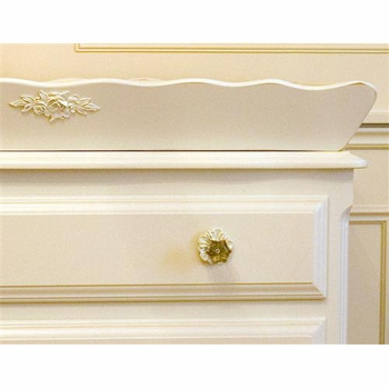 french chest with monogram