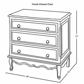 french chest (wood stain) with changing tray