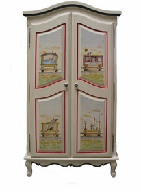 french full door armoire (circus)
