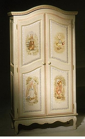 french full door armoire (enchanted forest)