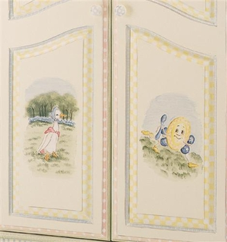 french full door armoire (nursery rhymes)