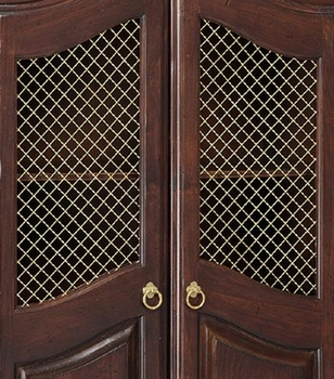 french full door armoire - wire mesh