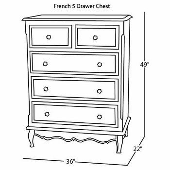 french tall chest