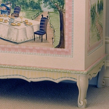 french toy chest (alice in wonderland)
