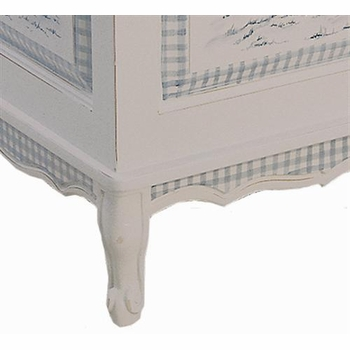 french toy chest (blue toile)