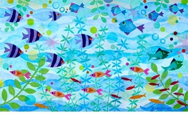 friendly fish party wall art