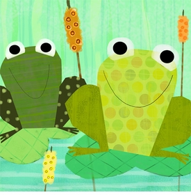 friendly frogs - wall art