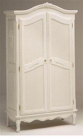 full door french armoire - caning