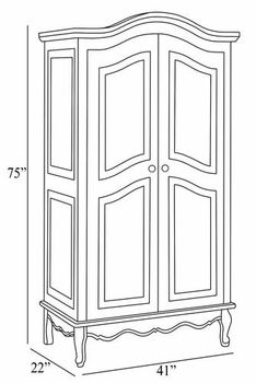 full door french armoire (toile)