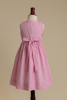 fully smocked bodice dress in pink