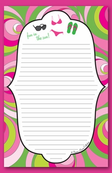 fun in the sun note pad  - SOLD OUT