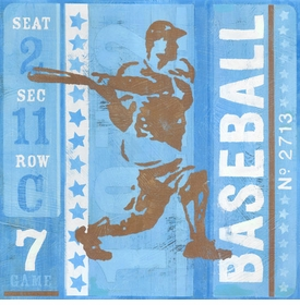 game ticket - at bat wall art