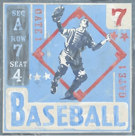 game ticket - baseball wall art