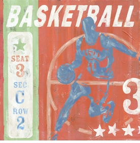 game ticket - basketball wall art