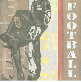 game ticket - football wall art