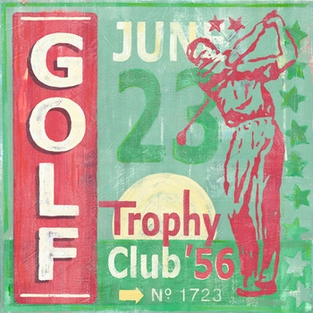 game ticket - golf classic wall art