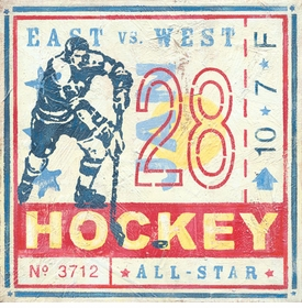 game ticket - hockey wall art