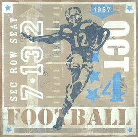 game ticket - rushing the end zone wall art