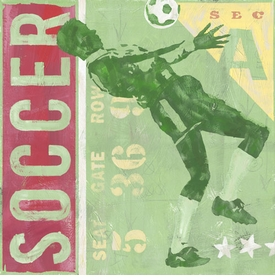 game ticket - soccer wall art
