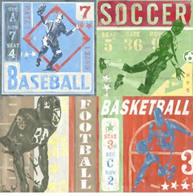 game tickets - team sports wall art