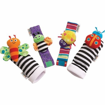garden bug foot finder and wrist rattle by lamaze