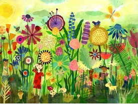 garden play time wall art
