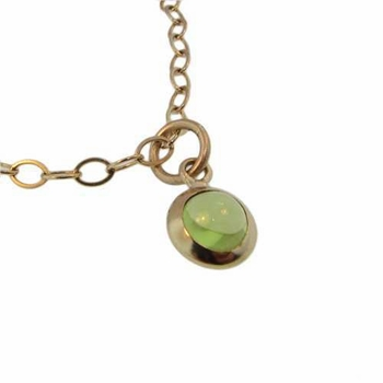 genuine gold cabochon necklace