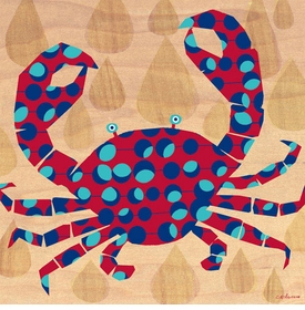 geo crab wall art canvas reproduction