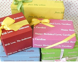 gift wraps - recycled and recyclable