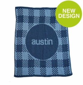 Gingham & Name Blanket