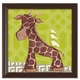 giraffe wall art - green