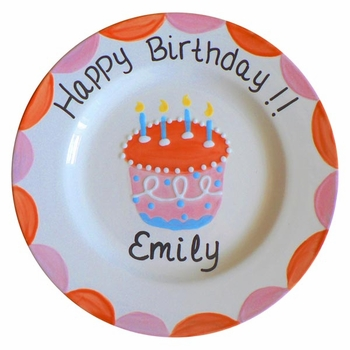 girl birthday plate