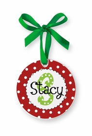 girl monogram ornament