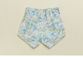 girls blue toile shorts