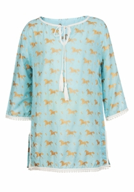 girls gold horse kaftan