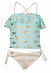 girls gold horse tankini