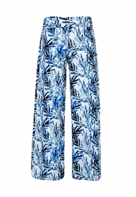 girls ombre leaf wide leg beach pant