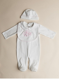 girls pointelle layette set